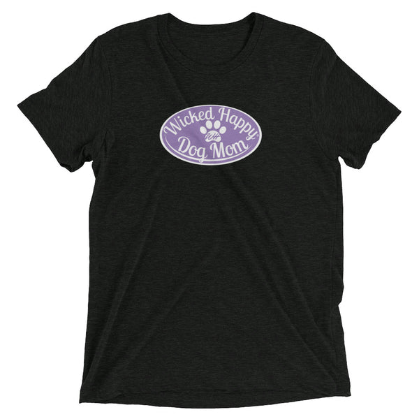 Wicked Happy Dog Mom - Triblend - Lavender Logo