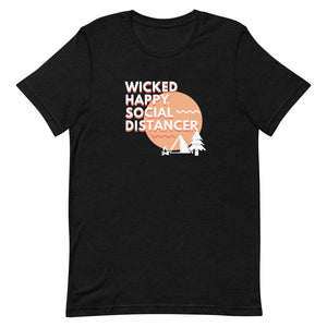 Wicked Happy Social Distancer - Short-Sleeve Unisex T-Shirt