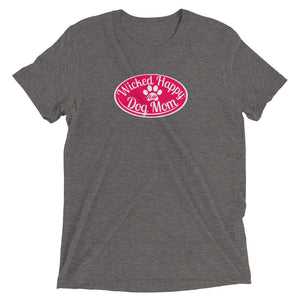 Wicked Happy Dog Mom - Triblend - Red Logo