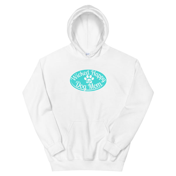 Wicked Happy Dog Mom - Hoodie Aqua Logo