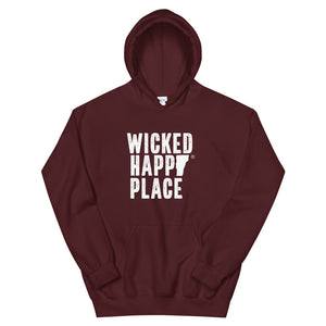 Vermont-Wicked Happy Place Unisex Hooded Sweatshirt
