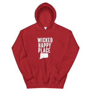 Connecticut-Wicked Happy Place Unisex Hooded Sweatshirt