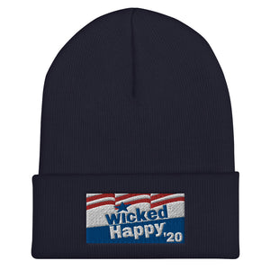 Vote Wicked Happy in 2020 - Cuffed Beanie