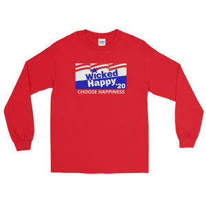 Vote Wicked Happy in 2020 - Men's Long Sleeve Shirt
