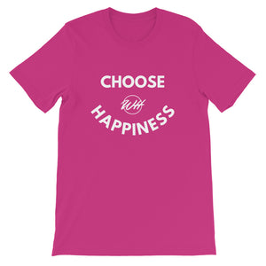 Choose Happiness-Sleeve Unisex T-Shirt