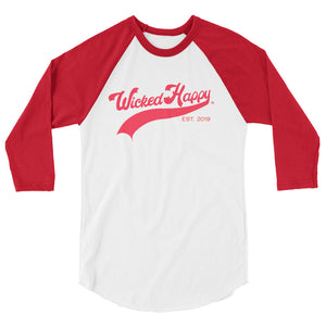 WH Baseball - Red/Red Sleeves Unisex Fine Jersey Raglan Tee