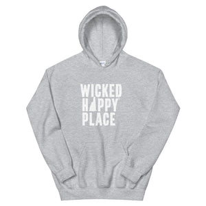 New Hampshire-Wicked Happy Place Unisex Hooded Sweatshirt