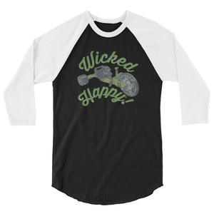 Wicked Happy Roadster - 3/4 sleeve raglan shirt