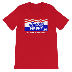 Vote Wicked Happy in 2020 - Unisex Short Sleeve