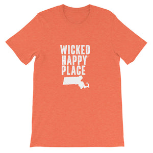 Massachusetts-Wicked Happy Unisex T-Shirt