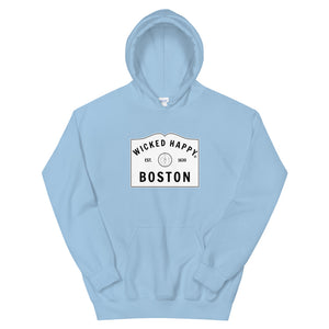 Wicked Happy Welcome to Boston - Unisex Hoodie