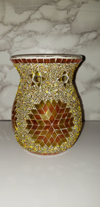 Mosaic wax and oil warmer.