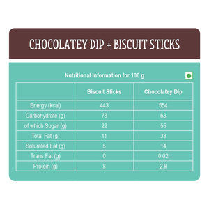 Chocolatey Dip with Biscuit Sticks - Pack of 24