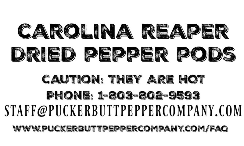 PuckerbuttPepper,  Dried Carolina reaper pepper pods, world's hottest hot pepper