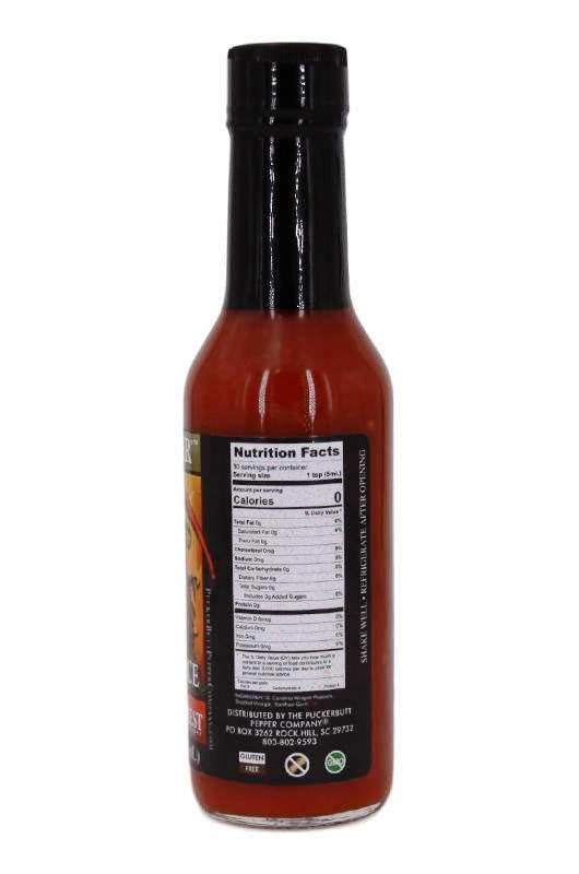 Puckerbutt Pepper Company Reaper Hot Sauce made with the Carolina reaper, Scoville sauce