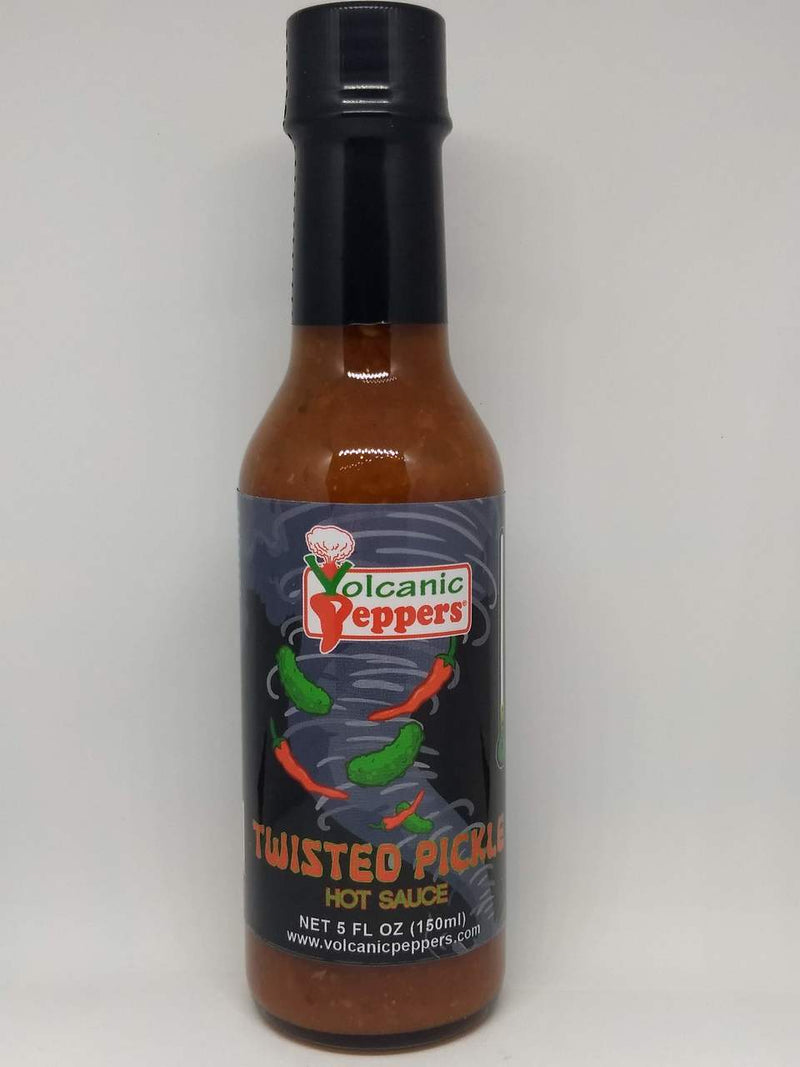 Volcanic Peppers Twisted Pickle Hot Sauce