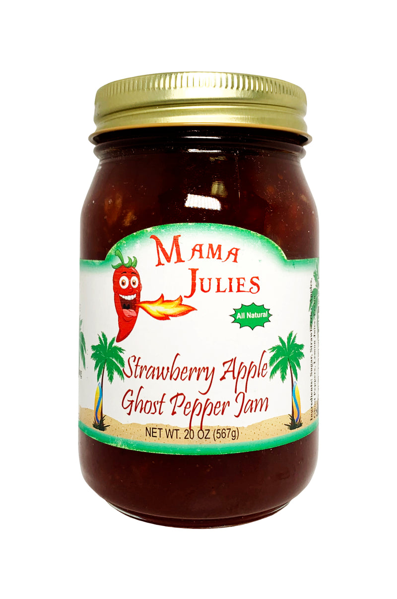 Strawberry Apple Ghost Pepper Jam
