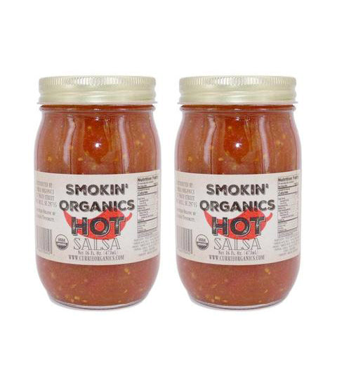 2 for $16 Smokin' Organic Salsa- Hot