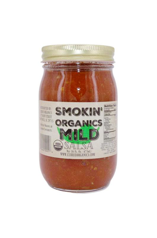 PuckerbuttPepper,all natural Smokin' Organic Salsa mild,USDA Organic