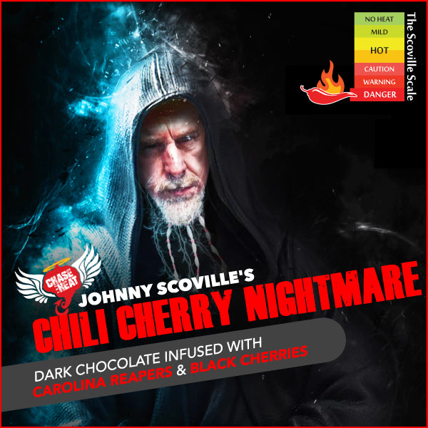 JOHNNY SCOVILLE CHILI CHERRY NIGHTMARE dark Chocolate