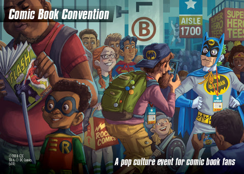 DC Spyfall: Comic Convention Location Card Promo