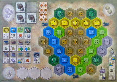 Castles of Burgundy: 4th Expansion - Monastery Boards