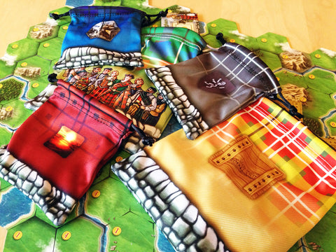 Drawstring Bags for use with Clans of Caledonia