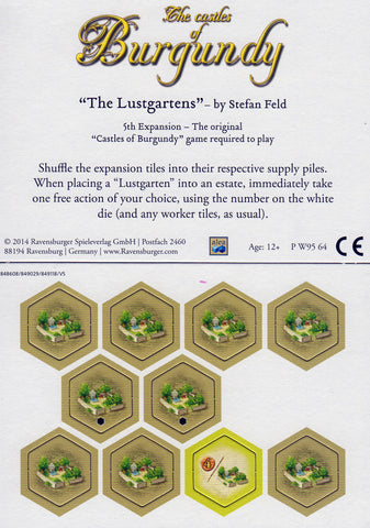 Castles of Burgundy: 5th Expansion – Pleasure Garden