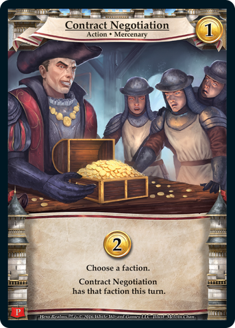 Hero Realms: Contract Negotiation Promo Card