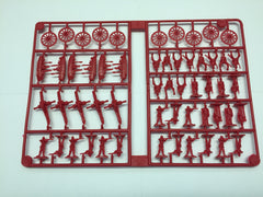 CLEARANCE Miniature Set 1: Blue & Red Pieces, Tan Bldgs, Black Horses