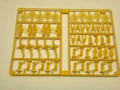 CLEARANCE Miniature Set 2: Green & Yellow Pieces, Tan Bldgs, Black Horses