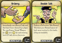 Battle Merchants: Bribery & Double Talk Promo Cards