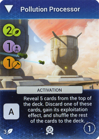 Master of Orion: The Board Game – Pollution Processor Promo Card