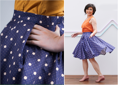 LudoCherry: Pleated Circle Skirt