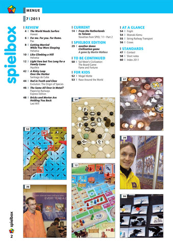 Spielbox 2011, Issue #7 - English Version