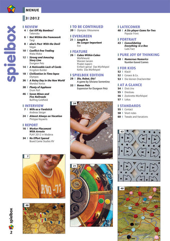 Spielbox 2012, Issue #3 - English Version