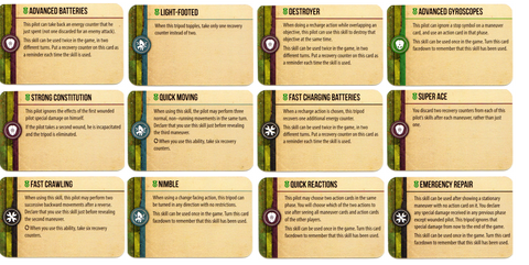 Tripods & Triplanes: Martian Skill Cards