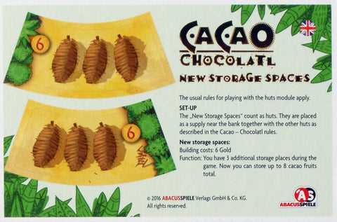 Cacao: Chocolatl – New Storage Spaces