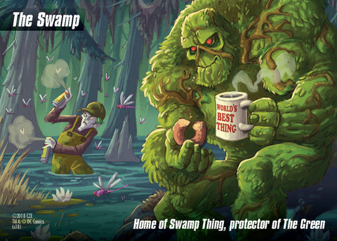 DC Spyfall: Swamp Thing Location Card Promo