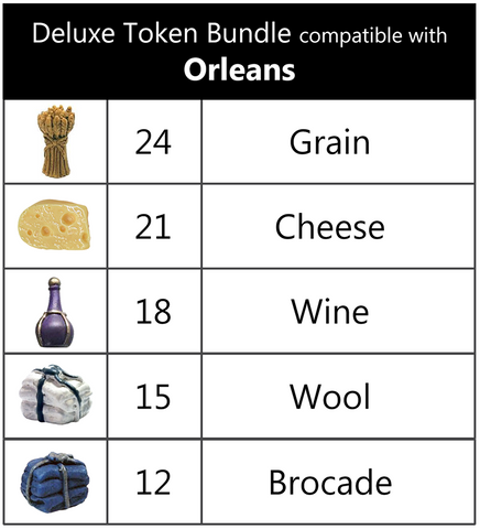Top Shelf Gamer: Deluxe Token Bundle compatible with Orleans