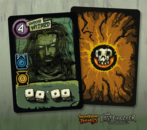 Ancient Terrible Things: Undead Wizard Promo Card