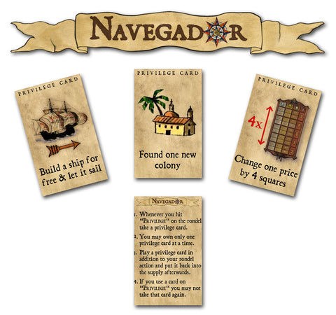 Concordia: 8 Forum Cards & Navegador: Privilege Cards