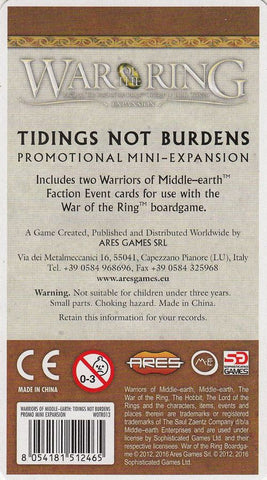 War of the Ring: Warriors of Middle-Earth – Tidings Not Burdens Mini-Expansion
