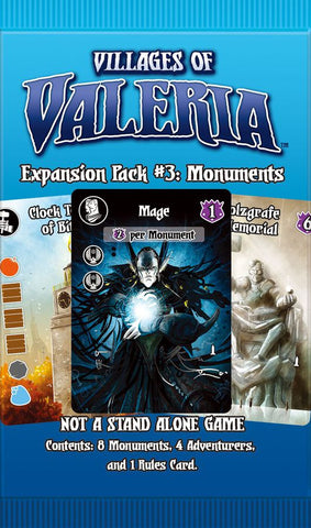 Villages of Valeria: Expansion Pack #3 - Monuments
