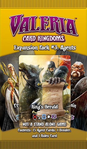 Valeria: Card Kingdoms – Expansion Pack #03: Agents