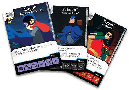 DC Comics Dice Masters: Batman the Animated Series Promo Cards