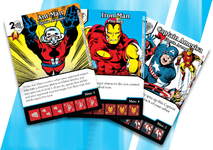 Marvel Dice Masters: Classic Avengers Promo Cards