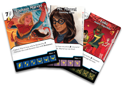 Marvel Dice Masters: Ms. Marvel Promo Cards