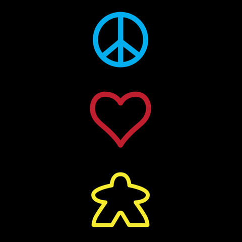 Peace Love Meeple T-Shirt
