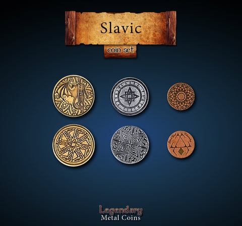 Legendary Metal Coins: Slavic Coin Set
